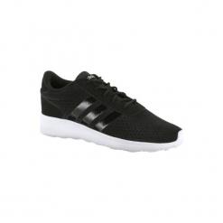 Buty damskie do szybkiego marszu Lite Racer w kolorze czarnym. Czarne buty do fitnessu damskie marki Adidas, z kauczuku. Za 199,99 zł.