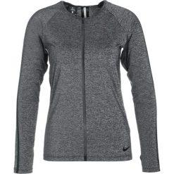 Nike Performance Koszulka sportowa black/heather/white. Czarne topy sportowe damskie marki Nike Performance, xl, z elastanu. W wyprzedaży za 153,30 zł.