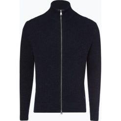 Marc O'Polo - Kardigan męski, niebieski. Niebieskie swetry rozpinane męskie Marc O'Polo, m, w prążki, polo. Za 679,95 zł.
