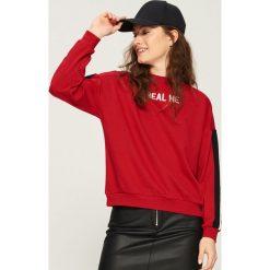 Bluza z lampasami - Czerwony. Czerwone bluzy damskie Sinsay, l. Za 39,99 zł.