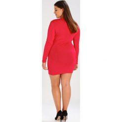 Sukienki hiszpanki: Missguided Plus V NECK SLINKY BODYCON Sukienka koktajlowa red