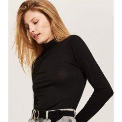 Bluzki damskie: Bluzka z golfem - Czarny