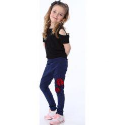 Legginsy dziewczęce: Legginsy dziewczęce z biedronką granatowe NDZ8688
