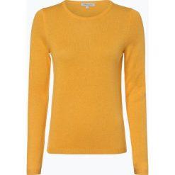 Apriori - Sweter damski z mieszanki jedwabiu i kaszmiru, żółty. Niebieskie swetry klasyczne damskie marki Apriori, l. Za 299,95 zł.