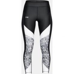 Spodnie dresowe damskie: Under Armour Spodnie damskie HeatGear Colour Blocked Printed Ankle czarno-białe r. S (1307553-002)
