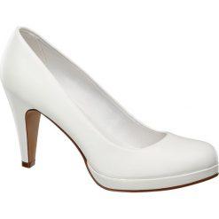 Czółenka: czółenka damskie Graceland białe