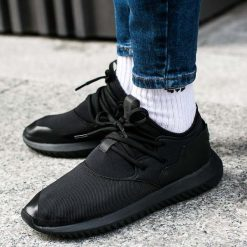 """Buty adidas Tubular Entrap Shoes """"Core Black"""" (BA7104). Czarne buty sportowe damskie adidas tubular marki Adidas, z materiału. Za 194,99 zł."""
