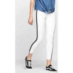 Spodnie damskie: Białe Jegginsy All Way