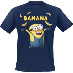 T-shirty męskie z nadrukiem: Minions Banana T-Shirt granatowy