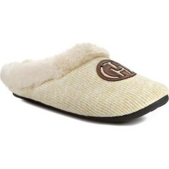 Kapcie damskie: Kapcie TOMMY HILFIGER – Mule Slipper FW56817602  Light Gold