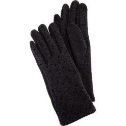 Szare rękawiczki z błyszczącymi dżetami QUIOSQUE. Szare rękawiczki damskie QUIOSQUE, na zimę. Za 39,99 zł.