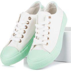 RACHELE białe trampki na zielonej platformie białe. Białe trampki i tenisówki damskie marki Merg. Za 75,90 zł.