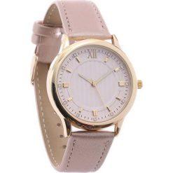 Beżowy Zegarek Conventional. Brązowe zegarki damskie Born2be. Za 29,99 zł.