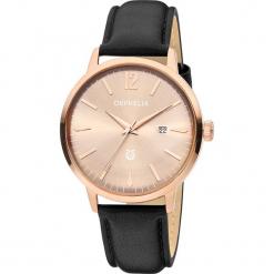 Zegarek kwarcowy w kolorze czarno-różowozłotym. Szare, analogowe zegarki męskie Esprit Watches, ze stali. W wyprzedaży za 272,95 zł.
