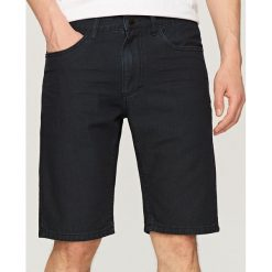 Spodenki i szorty męskie: Jeansowe szorty slim fit - Czarny