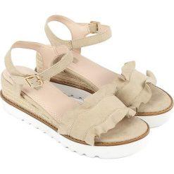 Sandały damskie: Sandały w kolorze beżowym