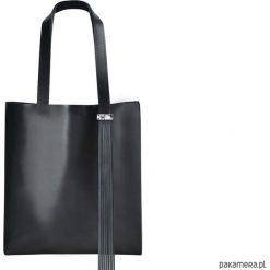 Torba ze skóry licowej. Czarne torebki klasyczne damskie Pakamera, ze skóry. Za 289,00 zł.