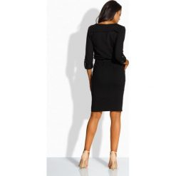 Dopasowana sukienka ze złotymi guzikami czarna LILLIAN. Niebieskie długie sukienki marki numoco, na imprezę, s, w kwiaty, z jeansu, sportowe, sportowe. Za 119,00 zł.