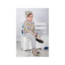 HONEY | CZAPKA DZIANINOWA W LISKI SZARA. Czarne spodnie niemowlęce marki ŁAP NAS, l, z aplikacjami, z bawełny. Za 48,30 zł.