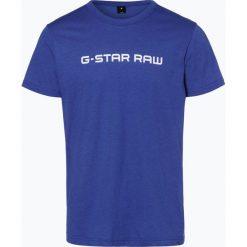 G-Star - T-shirt męski – Loaq, niebieski. Niebieskie t-shirty męskie marki G-Star, l, z napisami, z klasycznym kołnierzykiem. Za 69,95 zł.