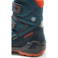 Lowa MILO GORETEX Śniegowce petrol/orange. Zielone buty zimowe chłopięce Lowa, z gore-texu. W wyprzedaży za 272,35 zł.