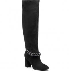 Kozaki GUESS - FLAEE4 SUE11 BLACK. Czarne buty zimowe damskie Guess, z materiału. Za 1229,00 zł.