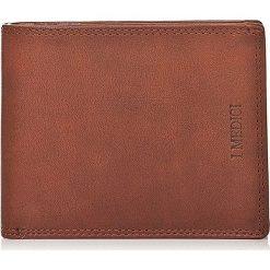 Skórzany portfel w kolorze brązowym - 10 x 12,5 x 2 cm. Brązowe portfele damskie I MEDICI FIRENZE, ze skóry. W wyprzedaży za 169,95 zł.