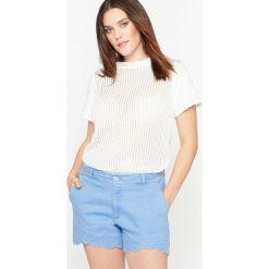 Bluza z krótkim rękawem. Szare bluzy damskie marki La Redoute Collections, m, z bawełny, z kapturem. Za 136,50 zł.