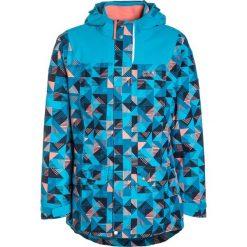 Jack Wolfskin TWIN FALLS 3IN1 Kurtka hardshell icy lake blue. Niebieskie kurtki dziewczęce sportowe marki Jack Wolfskin, z hardshellu, outdoorowe. W wyprzedaży za 211,60 zł.