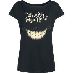 Alicja w Krainie Czarów Grinsekatze - Mad Mouth Koszulka damska czarny. Czarne t-shirty damskie Alicja w Krainie Czarów, xxl, z motywem z bajki, z dekoltem w łódkę. Za 74,90 zł.
