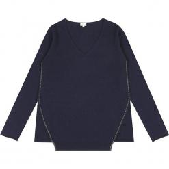 Sweter kaszmirowy w kolotze granatowym. Niebieskie swetry klasyczne damskie marki Ateliers de la Maille, z kaszmiru. W wyprzedaży za 500,95 zł.