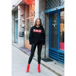 Bluzy damskie: Czarno-Czerwona Bluza All-Round
