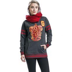 Bluzy rozpinane damskie: Harry Potter Gryffindor Shawl Bluza z kapturem damska odcienie szarego/czerwony