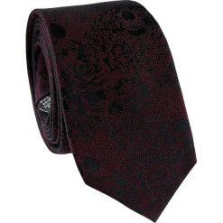 Krawat jedwabny KWAR000212. Czarne krawaty męskie Giacomo Conti, z jedwabiu. Za 129,00 zł.