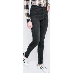 Levi's - Jeansy Faded. Brązowe jeansy damskie rurki Levi's®, z aplikacjami, z bawełny. Za 369,90 zł.