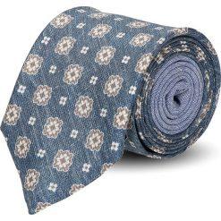 Krawaty męskie: krawat winman niebieski classic 211