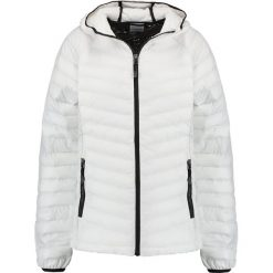 Columbia POWDER LITE HOODED Kurtka Outdoor white/black. Białe kurtki damskie turystyczne Columbia, xl, z materiału. Za 529,00 zł.