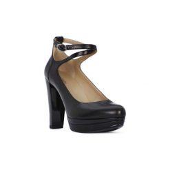 Czółenka Nero Giardini  NERO GIARDINI  NAPPA PANDORA. Czarne buty ślubne damskie Nero Giardini. Za 707,39 zł.