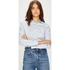 U.S. Polo - Koszula. Szare koszulki polo damskie marki U.S. Polo, m, z bawełny, casualowe, z klasycznym kołnierzykiem, z długim rękawem. W wyprzedaży za 269,90 zł.