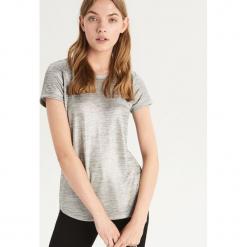 T-shirt basic - Srebrny. Szare t-shirty damskie Sinsay, l. Za 39,99 zł.