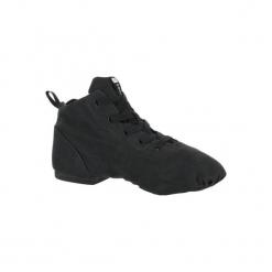 Buty do tańca nowoczesnego. Czarne buty do fitnessu damskie marki Kazar, z nubiku, przed kolano, na wysokim obcasie. Za 99,99 zł.