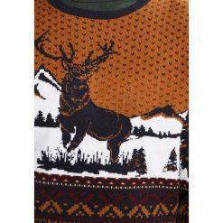 Swetry klasyczne męskie: Burton Menswear London STAG FAIRISLE Sweter brown