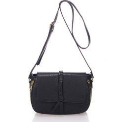 Torebki klasyczne damskie: Skórzana torebka w kolorze czarnym – 26 x 18 x 10 cm