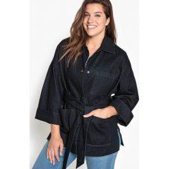 Bomberki damskie: Szeroka kurtka z denimu