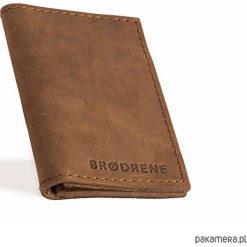 Portfele męskie: Skórzany męski jasno brązowy cienki portfel