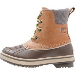 Sorel SLIMPACK II LACE Śniegowce light brown. Brązowe buty zimowe chłopięce Sorel, z materiału. W wyprzedaży za 351,20 zł.