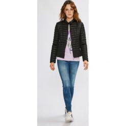 Guess Jeans - Top. Szare topy damskie Guess Jeans, m, z aplikacjami, z bawełny, z okrągłym kołnierzem. Za 139,90 zł.