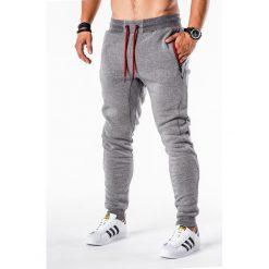 Spodnie męskie: SPODNIE MĘSKIE DRESOWE P548 – SZARE
