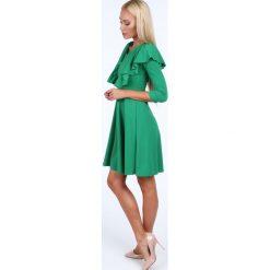Sukienka z falbanami zielona 1818. Zielone sukienki Fasardi, l. Za 89,00 zł.