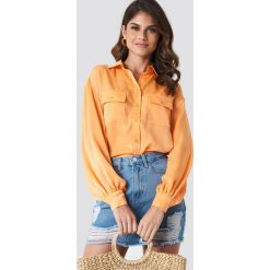 Koszule body: Andrea Hedenstedt x NA-KD Koszula z bufiastym rękawem - Orange